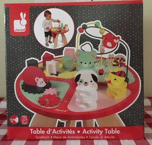 Janod Activity Table - Baby Forest *contact us for delivery date*