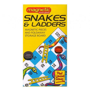 University Games Pocket Magnetic Draughts or Snakes and Ladders