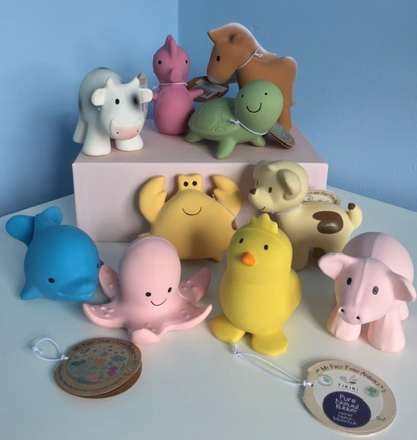Tikiri Rubber toy farm and ocean collection