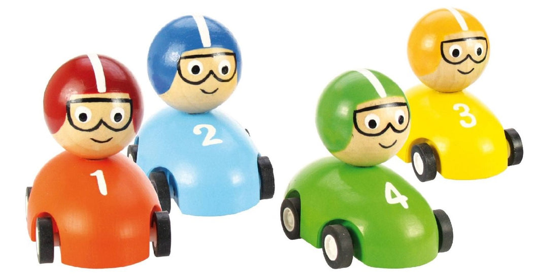 Bigjigs Pull Back Racing Car with numbers