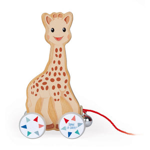 Janod CLASSIC WOODEN TOY SOPHIE LA GIRAFE PULL-ALONG