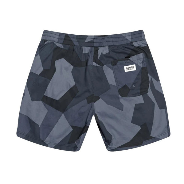 DEUS EX MACHINA GLIDE GEO BOARDSHORT - BLUE CAMO