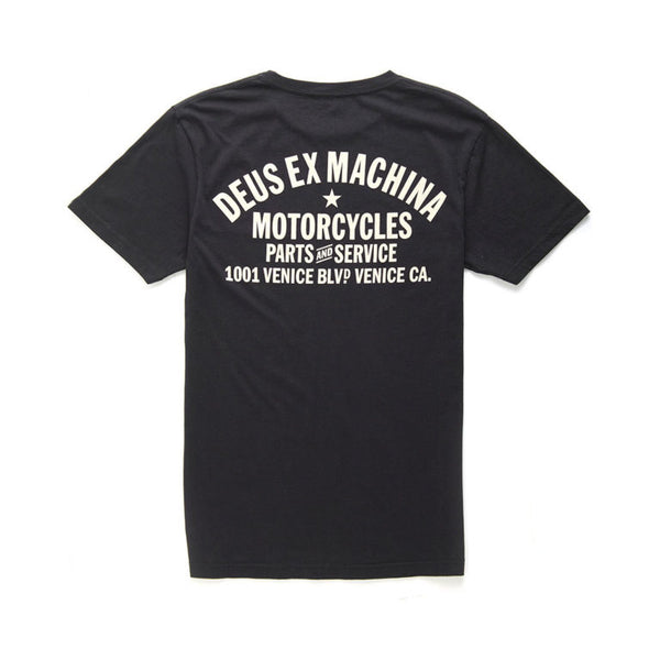 DEUS EX MACHINA VENICE ADDRESS TEE - BLACK