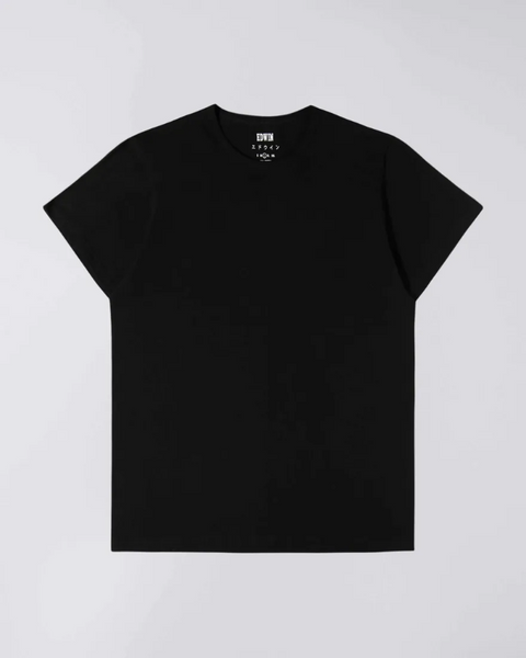 EDWIN DOUBLE PACK SS TEE - BLACK