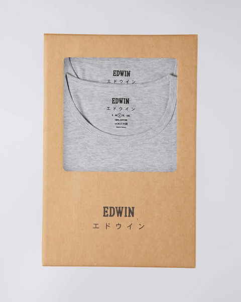 EDWIN DOUBLE PACK SS TEE - GREY MARLE