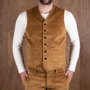 PIKE BROTHERS 1905 HAULER VEST GOLIATH CORD - MUSTARD