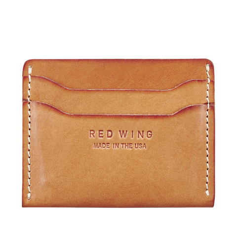 RED WING CARD HOLDER VEGETABLE TANNED - NATURAL