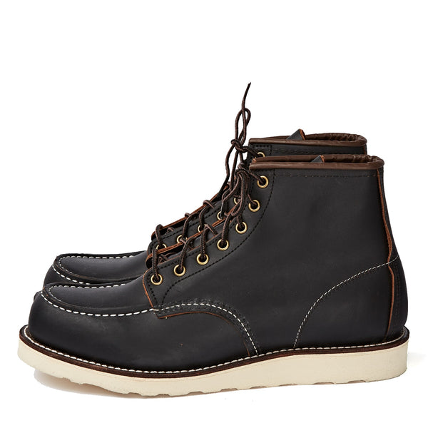 "RED WING SHOES 6"" CLASSIC MOC TOE 8849 - BLACK PRAIRIE"