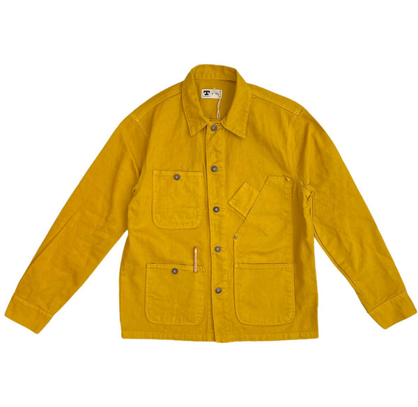 TELLASON COVERALL JACKET GARMENT DYED - GOLD