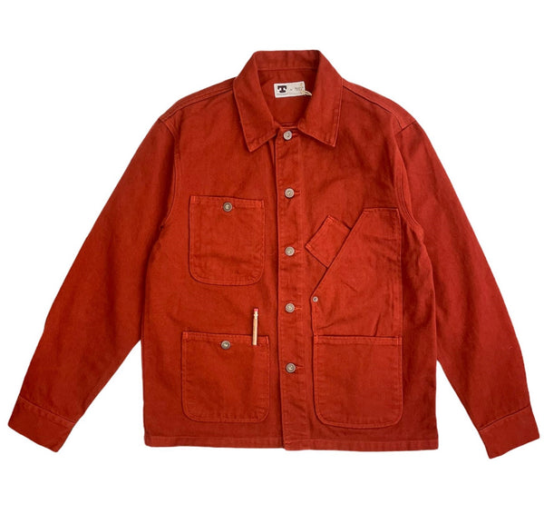 TELLASON COVERALL JACKET GARMENT DYED - INTERNATIONNAL ORANGE
