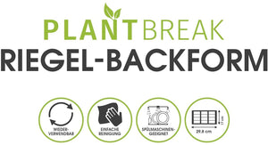 PLANTBREAK Backform-Silikon | für 12 Fitnessriegel - PLANTBREAK Fitnessriegel