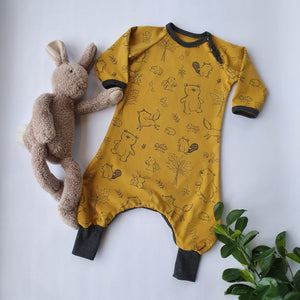 "Baggydress ""Mustard Animals"" str 62"