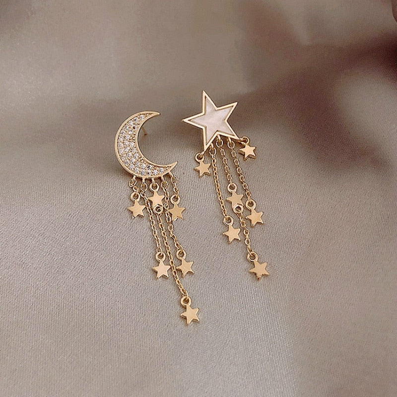 Pendants d'Oreille Star Moon