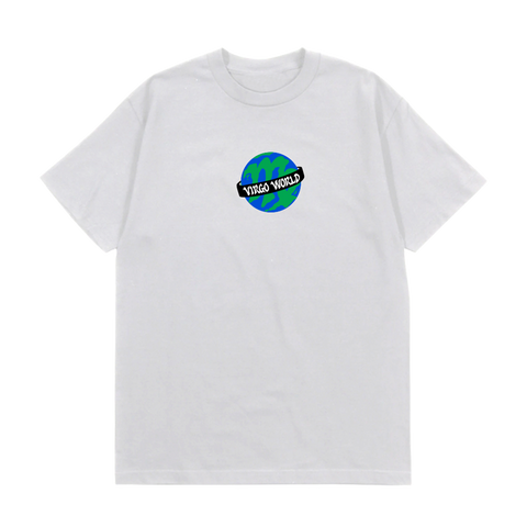 White Virgo World Globe T-Shirt