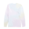 Tie Dye Long Sleeve Tee With White Print Design