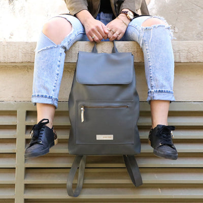 Vegan Laptop Backpack Women Backpack, Laptop Backpack, Faux Leather Backpack, Vegan Rucksack, Casual Backpack, Vegan Women Bag