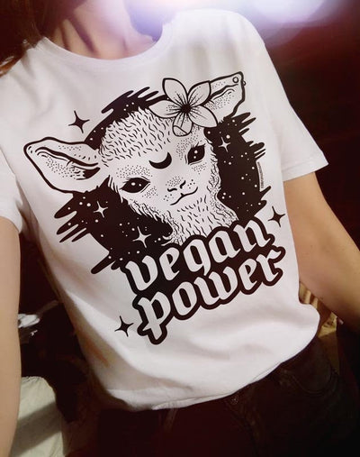 Vegan Power White T-Shirt