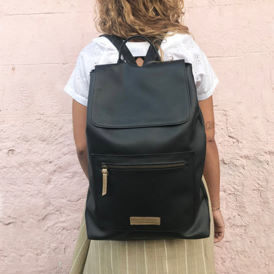 Vegan Laptop Women Backpack Women Backpack, Laptop Backpack, Faux Leather Backpack, Vegan Rucksack, Casual Backpack, Vegan Women Bag