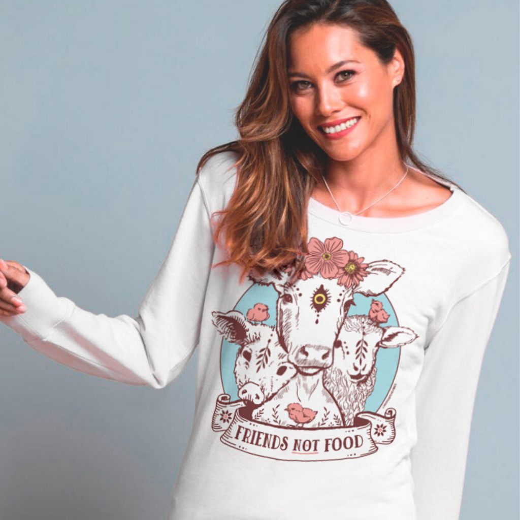 Vegan Friends Not Food Sweatshirt