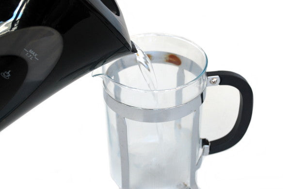 Kettle Pouring Water Into French Press