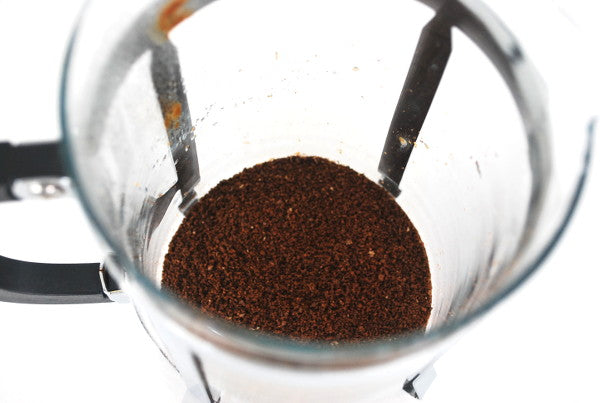 Ground Coffee In Coffee Plunger