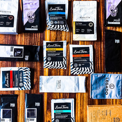 cape town coffee roaster packaging birds eye view