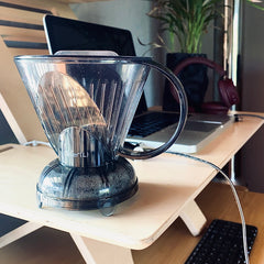 Abid's Clever dripper for brewing coffee in the office