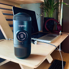 Nanopresso portable espresso coffee maker for the office