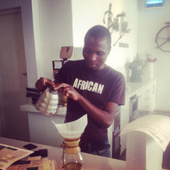 Temba from Bean There Brewing A Chemex