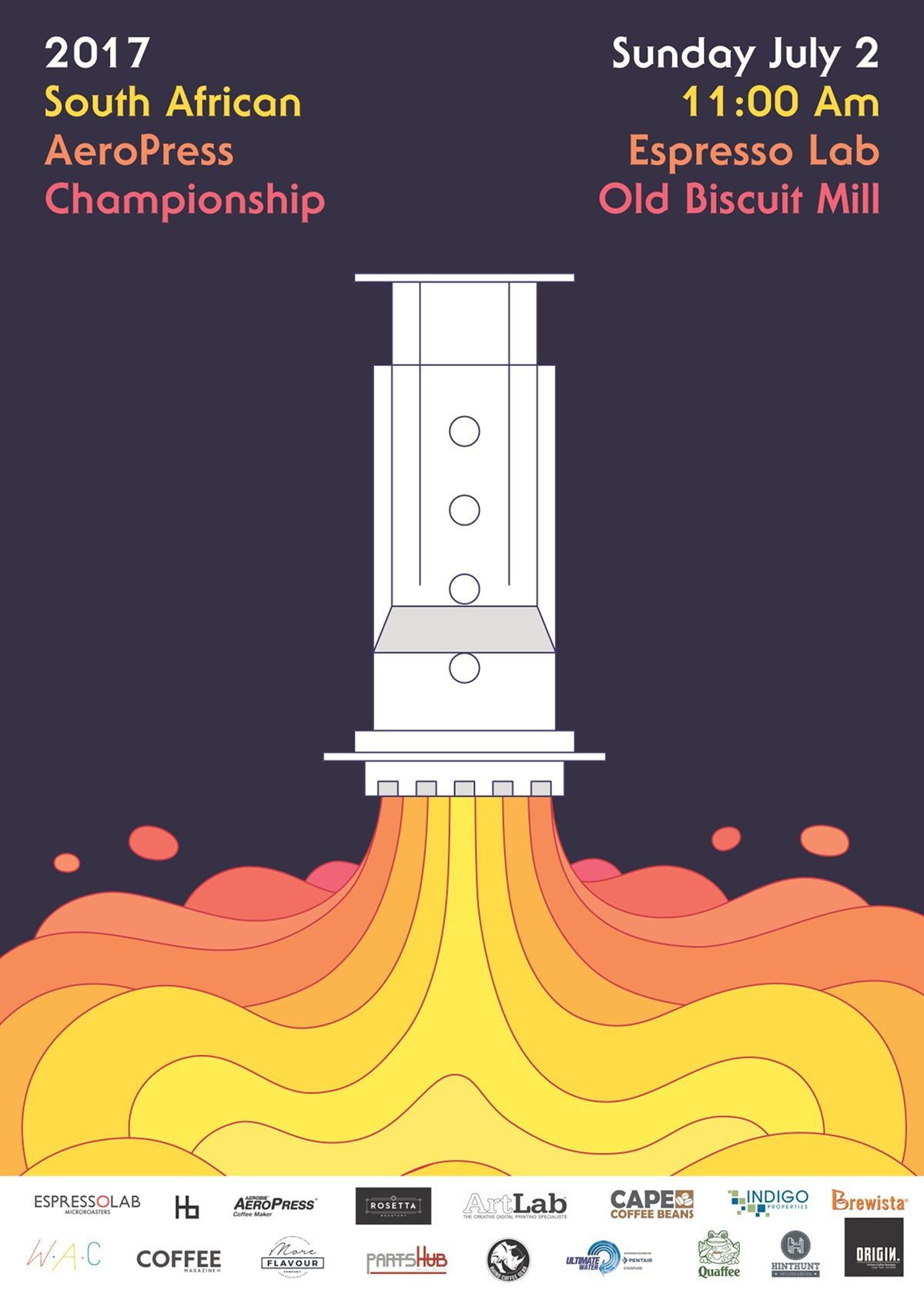 South African Aeropress Championship 2017 Poster