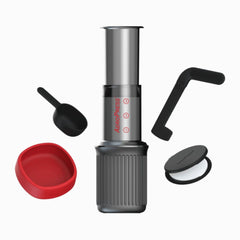 AeroPress Go On Travel Mug With Components