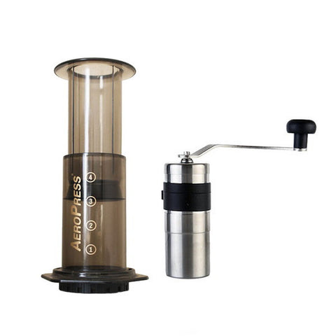 Aeropress Travel Bundle with Porlex Coffee Grinder