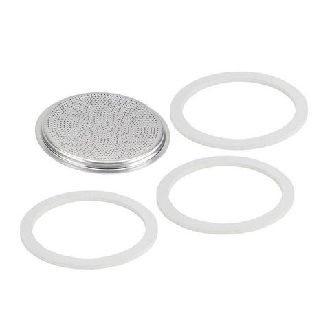 Bialetti Filter Plate & 3 Gaskets