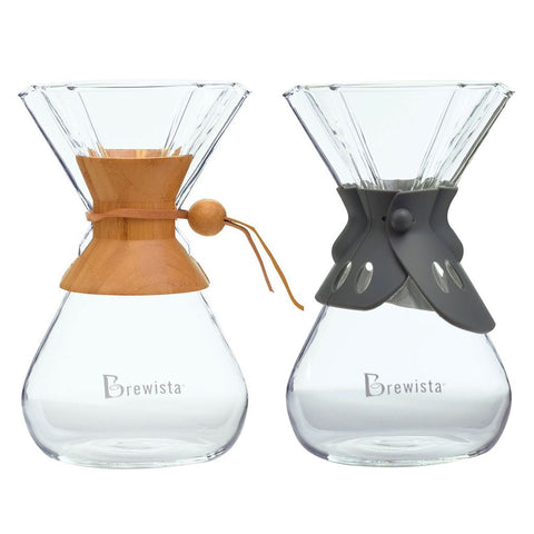 Brewista Smart Brew™ Hourglass Brewer 8 Cup Bamboo & Silicone Collars