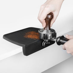 Cafelat Corner Tamping Mat On Counter In Use