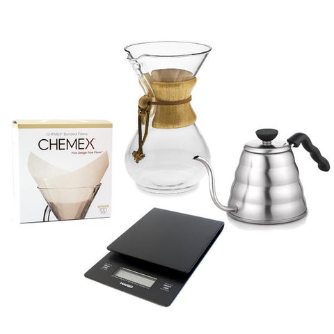 Chemex 6 Cup With Hario Scale, Hario Kettle & Filters