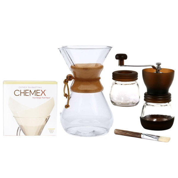 Chemex Starter Bundle With Square Filters & Gater Grinder