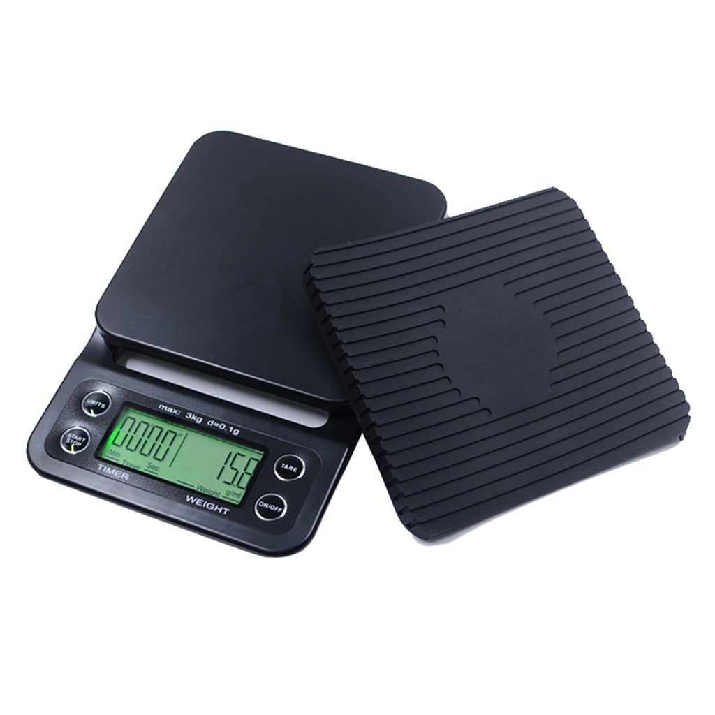 digital coffee scale with timer heat mat cape coffee beans