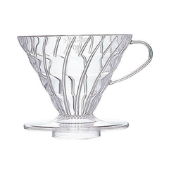 Hario V60 Pour-Over Coffee Dripper 02 Clear Plastic