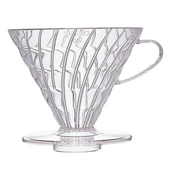 Hario V60 Pour-Over Coffee Dripper 03 Clear Plastic