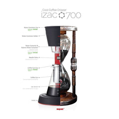Izac 700 Cold Brew Coffee Dripper Features