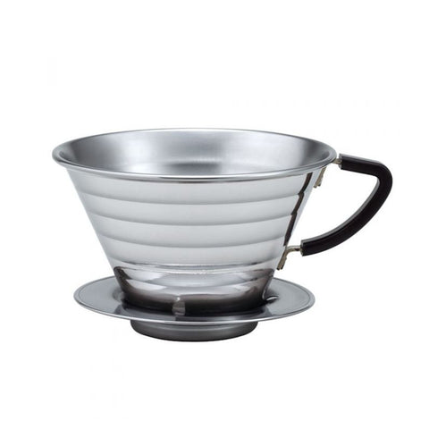 Kalita Wave 185 2-4 Cup Stainless Steel Pour-Over Dripper