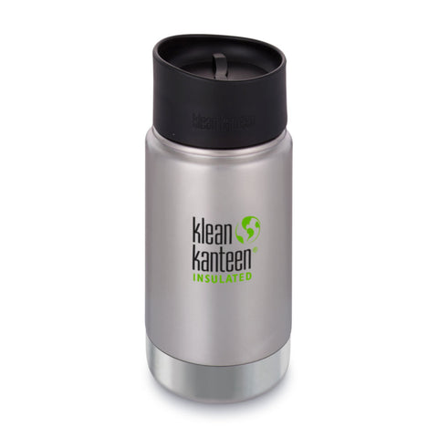 Klean Kanteen Wide Stainless Steel Insulated Coffee Flask 12oz Brushed Stainless