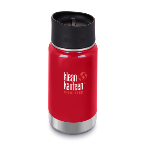 Klean Kanteen Wide Stainless Steel Insulated Coffee Flask 12oz Mineral Red