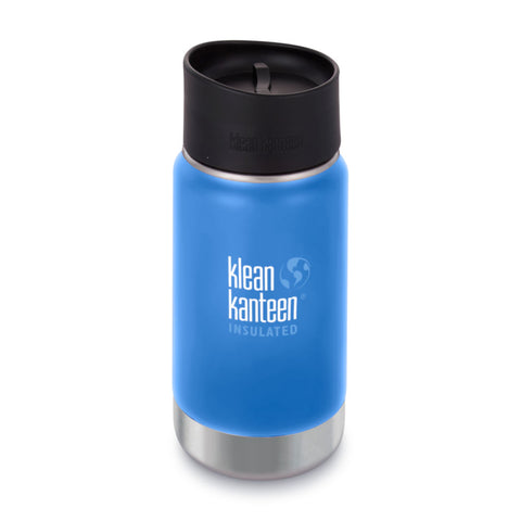 Klean Kanteen Wide Stainless Steel Insulated Coffee Flask 12oz Pacific Sky