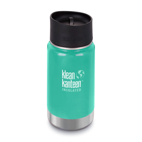 Klean Kanteen Wide Stainless Steel Insulated Coffee Flask 12oz Sea Crest