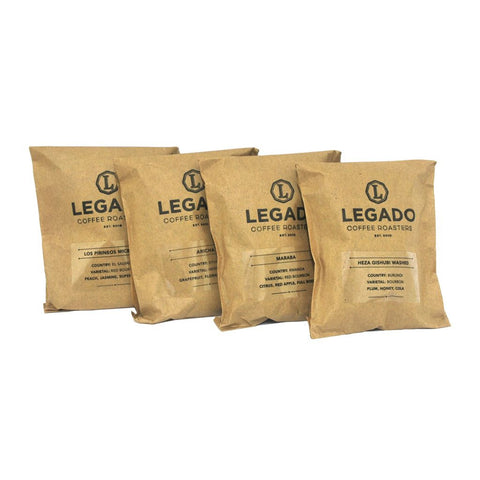 Legado 4x 100g Coffee Bean Tasting Bundle