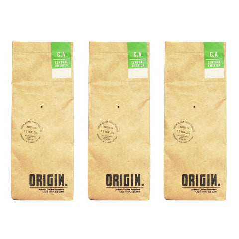 Origin Coffee Roasting - 3 Central American Coffee Bean Bags