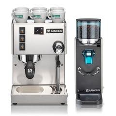 Rancilio Silvia with Rocky without doser