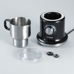 Severin Induction Milk Frother Black Components